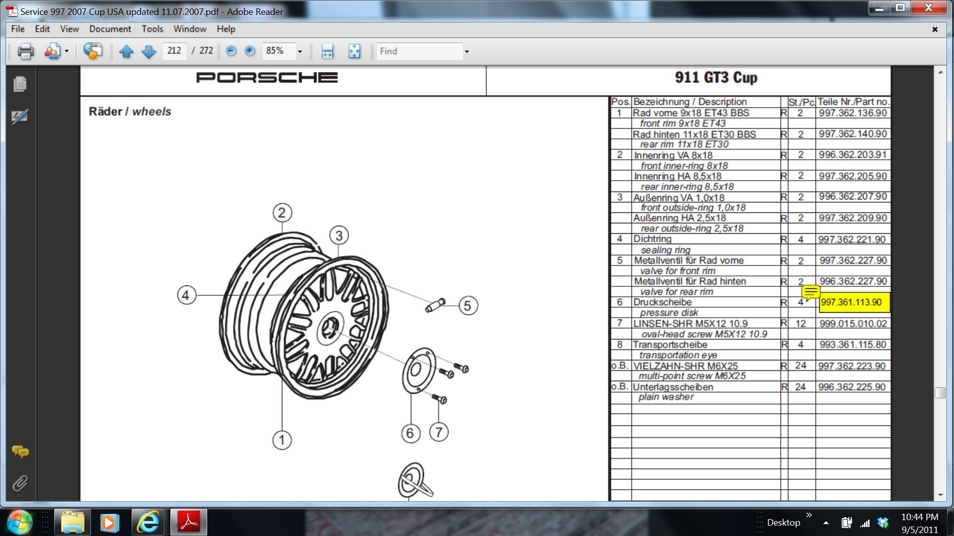 Cup car 3 piece BBS wheel repair ... - Rennlist - Porsche Discussion ...
