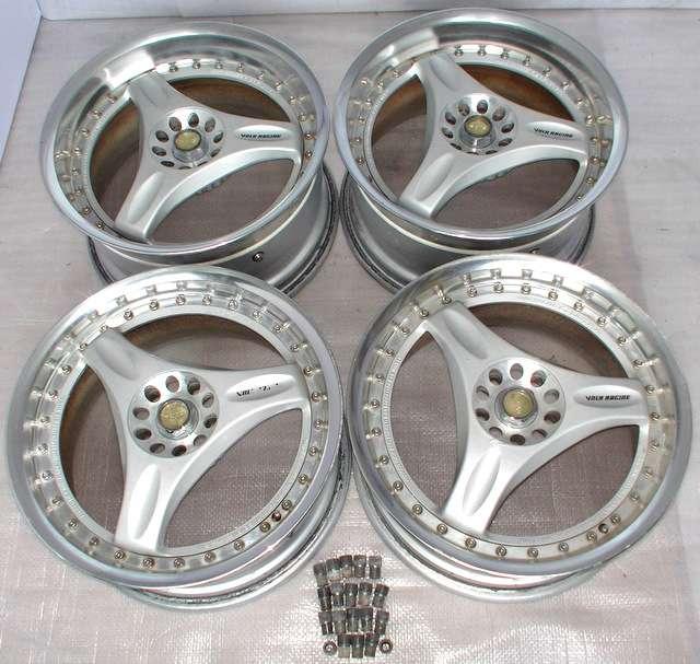 VOLK RAYS C-ULTRA 17 8J 9J 5x114 Rims Alloy Wheels R32 S14 R34 1